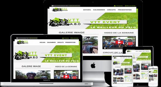Site web responsiv design par Arobase Studio