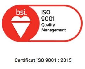 Certificat ISO 9001 2015 délivré à Inter'Net