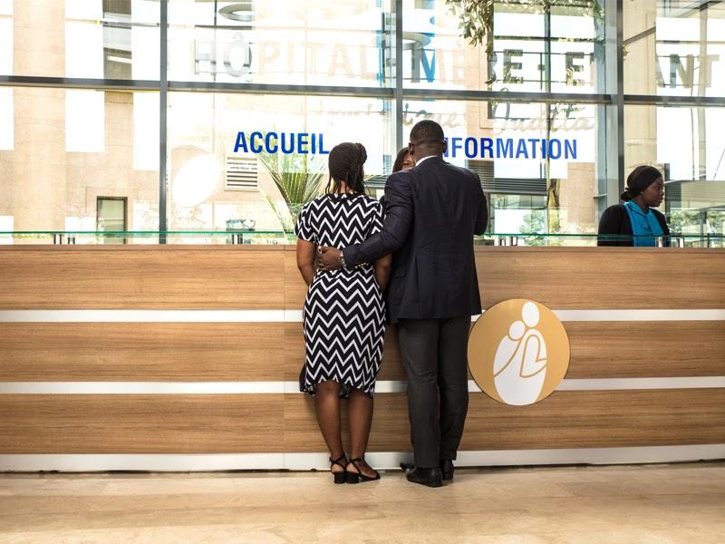 Accueil de l'hôpital mère enfant Dominique Ouattara
