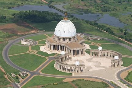 Basilique Notre-Dame de la Paix de Yamoussoukro par afric voyages