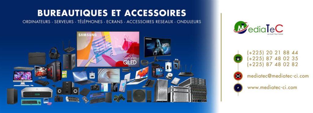 Outils bureautiques et accessoires électroniques chez Mediatec