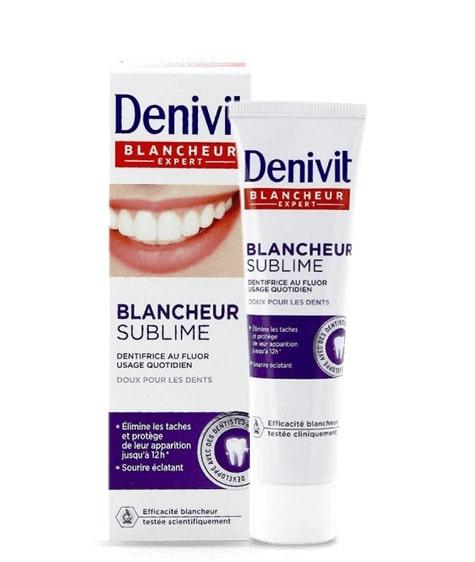 Crème dentifrice blancheur Denivit, produit en vente chez SIVOP