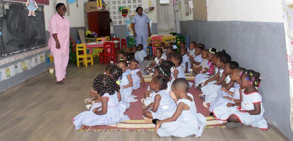 Les élèves en maternelle de l'institut de formation Azing Ivoir