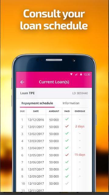 Interface de la plateforme d'application Baobab CI