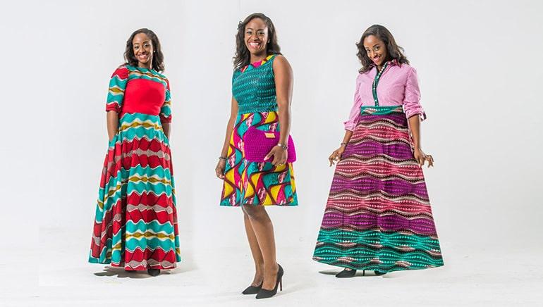 Vêtement confectionné dans du pagne wax, produit d'Ivoirshop