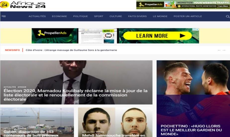 Site web afrique news 24