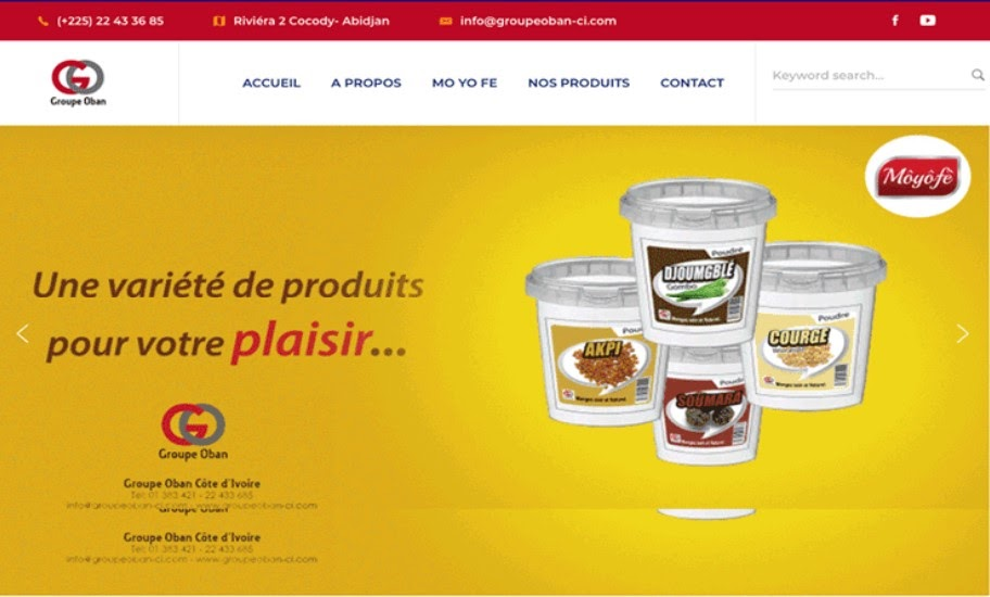 Site web groupe Oban