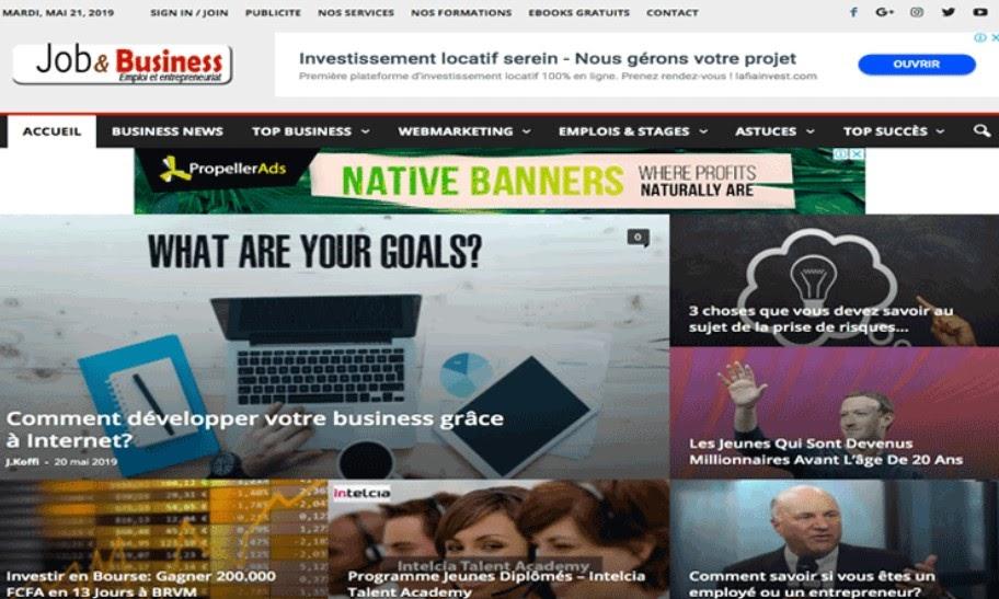 Site web job et business