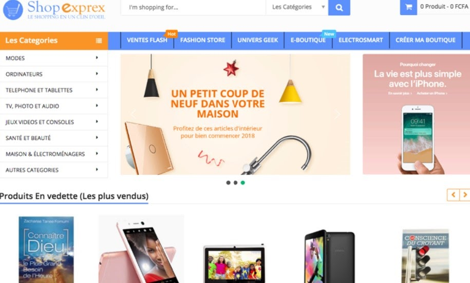 Site web shop expres