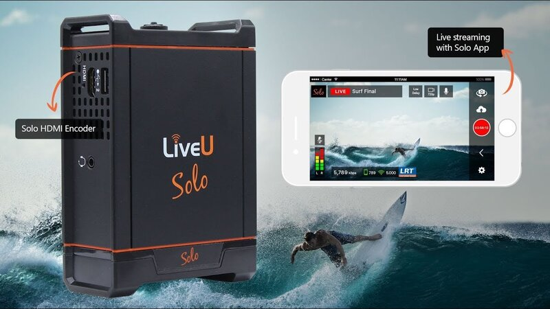 Encodeur LiveU Solo TV live streaming chez AVS